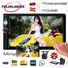 Head unit car online shopping - Car Stereo Bluetooth Radio HD INCH DIN Touch Screen Mirror Link TF USB AUX MP4 MP5 Head Unit Support Rear View Camera Player