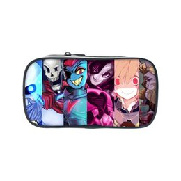 Fashion book case online shopping - Fashion Cartoon Undertale Printing Pencil Book Case Anime Make Up Bags For Teenagers Undertale Children School Supplies Wallet