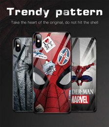 $enCountryForm.capitalKeyWord Australia - For Iphone Xs Max Xr Phone Case Marvel Spiderman Captain America 6 7 8 X Plus Tempered Glass Soft Edge Cell Phone Cases