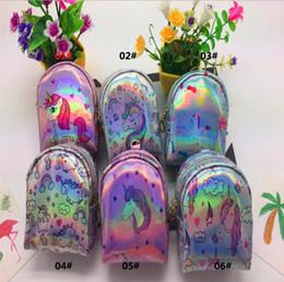 $enCountryForm.capitalKeyWord Australia - Girls Unicorn sequined magic coin purse With Cute Plush Ball Money Pouch Women Mini Wallet Coin Bag Zipper Earphone Package