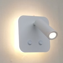 $enCountryForm.capitalKeyWord Australia - Topoch LED Light Wall Dual Switched LED Backlit 6W with Adjustable Reading Light 3W Focusing Lens for Corridor Aisle Bedside 100-240V