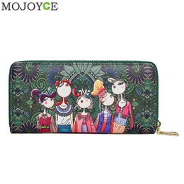 $enCountryForm.capitalKeyWord NZ - Female Fashion PU Leather Zipper Long Clutch Ladies Casual Handbags Women Forest Cartoon Character Print Wallet Phone Pouch