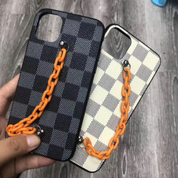 $enCountryForm.capitalKeyWord Australia - Brand design lattice chain mobile phone case for iphone XS Max Xr X 7 7plus 8 8plus 6 6plus 11 11Pro max hard back cover