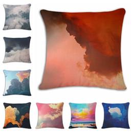 $enCountryForm.capitalKeyWord Australia - Flaky Clouds Cartoon Hand Cotton Flax Pillow Back Cushion