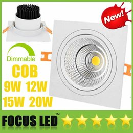 $enCountryForm.capitalKeyWord Australia - Square 9W 12W 15W 20W Dimmable COB LED Downlights Tiltable Fixture Recessed Ceiling Down Light Indoor Lamps Warm  Cool  Natrual white 4000K
