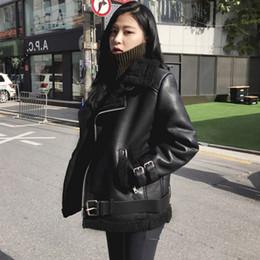 Water Proof Coatings Australia - drop ship Women Moto&Biker Style PU water-proof Outwear Jackets Female Slim Turn-down Collar faux fur Lady Short Coat Jackets