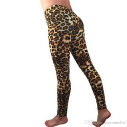 Wholesale hot free tight leggings resale online - Fashion Designer Womens Pants Hot Style Leopard Print Leggings Slim Body High Waist Sexy Elastic Tight Pants
