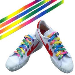 99705ea448e9fb Rainbow Strings NZ - 1 Pairs Rainbow Flat Canvas Athletic Shoelace Sport  Sneaker Shoe Laces Strings