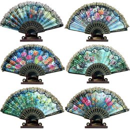 spanish lace hand fans Australia - Spanish lace fans ladies hand fans retro bun dance fans handmade wedding tourism guest gift HF12