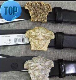 Black Rose Car Australia - 5A+ Crystal 3D Medusa Belt Black Rose Top Quality Togo Epsom Leather Bag Black Lambskin BELT CALFSKIN MENS BELT