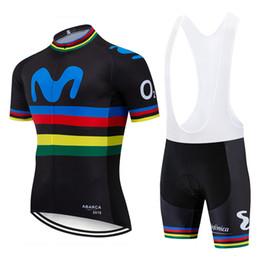 Toptan satış 2019 TAKIM SİYAH Renkli M Bisiklet forması 20D PAD bisiklet şort üst dipleri takım bisiklet mens Ropa Ciclismo Maillot Culotte setleri