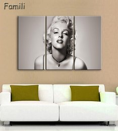Digital Figures Australia - Canvas Painting New 3 Pieces sets Canvas Art Marilyn Monroe Canvas Wall Art Painting Decoration For Home Abstract Figure