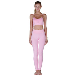 pink yoga sets Canada - Hot Sale Yoga Sets Women Yoga Running Leggings and sexy Skinny Vest Pants Stretch Trousers Tracksuit Sporting Suits