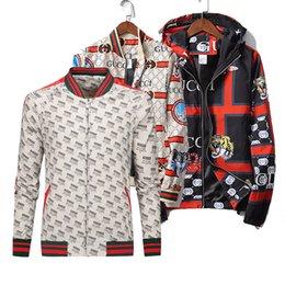 2018 Outono Inverno nova jaqueta blusão medusa floral impressão casacos Homens casuais casacos de manga comprida casacos com capuz casacos venda por atacado