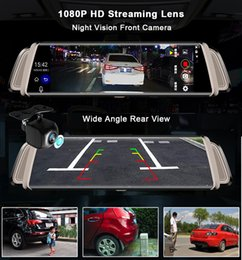 Discount smart camera recorder - 10'' 1080P Touch Screen Smart Rearview Mirror Car DVR Night Vision Dual Lens Dash Cam GPS Navigator Track Vide