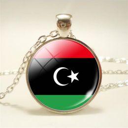 $enCountryForm.capitalKeyWord Australia - Fashion Time Gem Glass Cabochon Libya National Flag World Cup Football Fans Choker Long Necklace & Pendant Statement Jewelry Women Men Gifts