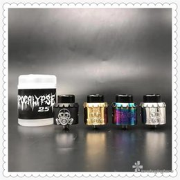 $enCountryForm.capitalKeyWord Australia - Apocalypse 25 RDA Newest 25mm Diameter E-Cigarette RDA Atomizer 4 Colors Vape RDA w  Squonk Pin Armageddon MFG Atomizers