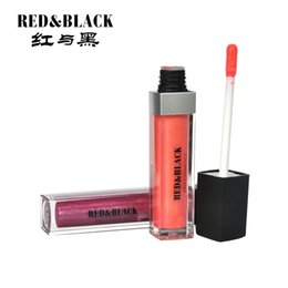 beauty style lipstick NZ - Red&black 12colors 8ml Sweet Lips Makeup Lipgloss For Girls Lipstick Liquid Long Lasting Beauty Shining Style