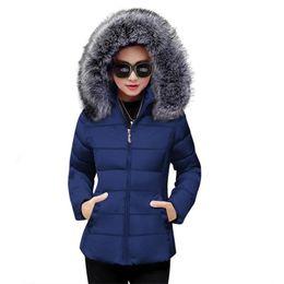 $enCountryForm.capitalKeyWord Australia - New Winter Coat Women With Detachable Hat Faux Fur Collar Zippers Pockets padded Ladies Cotton Coat Winter Jacket Womens Parkas