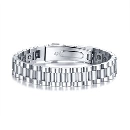 Power Bracelet Watches Australia - Watch Brands Health Care Hematite Energy Power Male Casual Jewelry Hombre Stainless Steel Men Bracelet Christmas Gifts SBRM-140MG