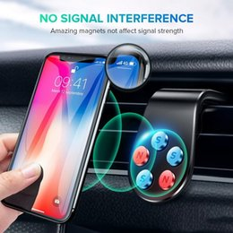 Car Phone Holder Car Mount With Larger Load Capacity Strong Magnetic Clip Style Assembly to Air Conditioner Vent