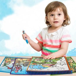 $enCountryForm.capitalKeyWord Australia - Kids Painting Book Paper Coloring Drawing Water Painting Toys with Water Pen Fashion New Kids Painting Book