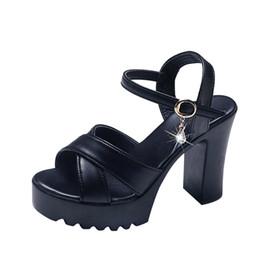 b2c825d0b32a 2019 Summer Red Wedge Platform Women High Heels Sandals Open Toe Fish Head  Fashion Buckle Strap Sandals Shoes for Women