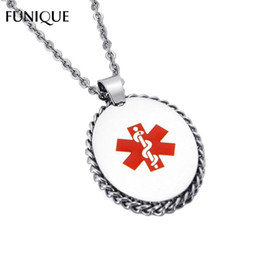 $enCountryForm.capitalKeyWord Australia - Stainless Steel Medical Emergency Paramedic DOG TAG Pendant Without Chain Necklace Charm For Jewelry Making Fit Engrave