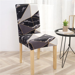 chair room NZ - Elastic Seat Chair Covers Printed Chair Cover Removable And Washable Stretch Banquet Hotel Dining Room Arm Office Cover