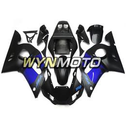 $enCountryForm.capitalKeyWord UK - Motorcycle Fairing Kit For Yamaha YZF-600 R6 Year 1998 99 00 01 2002 Complete Fairing Kit Brand New Plastic Matte Black Blue Cowling Kit