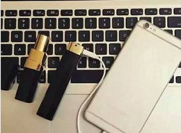 Lipstick mobiLe online shopping - 2016 new Luxury C Lipstick Power Bank mAh High Quality External Powerbank portable battery charger for mobile phone
