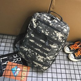 bucket backpack sales Canada - Factory sales brand men handbag large canvas student bags street fashion camouflage men backpack outdoor travel leisure backpack