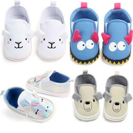 Baby Girl Summer Canvas Shoes Australia - 2019 Summer Newborn Baby Boys Girls Cute Cartoon Animal Casual Canvas Crib Shoes Prewalker Soft Sole Sneakers