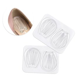 massaging gel insoles Australia - Gel Heel Pads Cushion Inserts For Shoes Soles Pressure Relief -absorbing Insoles No-slip Massage Women Shoe Pad