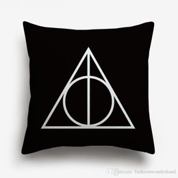 movie pillow cases NZ - Harry Potter Cushion Cover Geometric Sign Movie Poster American Style Linen Cotton Pillow Cases Sofa Bedroom Decoration