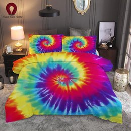 ship bedding sets 2019 - Personality bedding rainbow set sheets 3 sets of oil painting snail duvet cover color sheets quilt cover 2019 free shipp