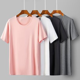 Blank T Shirt White NZ - Cool T Shirt Soft 95% Bamboo Fiber Hip Hop Basic Blank White T-shirt For Men Fashion Tshirts Summer Top Tee Tops Homme Q190530
