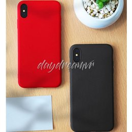 $enCountryForm.capitalKeyWord Australia - Cheapest Liquid Silicone TPU Phone Case Cover Protective Mobile Matte Frosted Cases For iPhone X XS XR MAX Samsung S10 Plus S10E Colorful