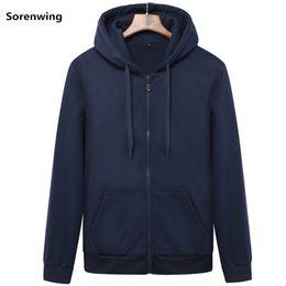 Hoodies Zippers Hood Australia - Brand Men's hoodie with hood sweatshirts Jackets Men Fleece Streetwear Warm Tracksuit Men hoody Coats Velvet Sweatshirt Mens 982