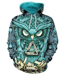$enCountryForm.capitalKeyWord UK - Fashion 3D Printed Owl Men Women PulloVer Hoodies Street Wear Casual Hip Hop Pockets Sweatshirt Clothing ZGXL081