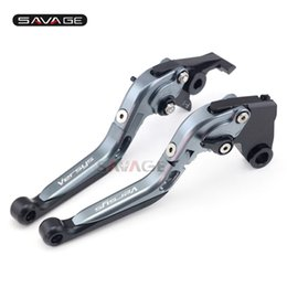 $enCountryForm.capitalKeyWord UK - Brake Clutch Lever For KAWASAKI KLZ 1000 Versys 2012-2014 13 Titanium Motorcycle Accessories Adjustable Folding Extendable Logo