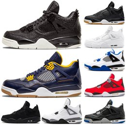 men basketball shoes toro red 2019 - Mens Cheap Brand Basketball Shoes 4s IV Black Cat White Cement Bred Royalty Pure Money Toro bravo Outdoors Athletic Shoe