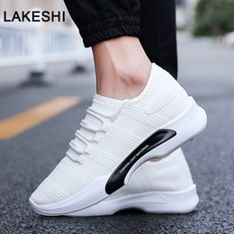 breathable mesh shoes men casual Australia - Breathable Casual Shoes Men Sneakers Male Shoes Adult High Quality Comfortable Non-slip Soft Mesh Men 2019 Summer New