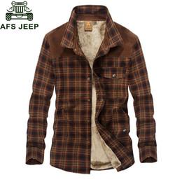 $enCountryForm.capitalKeyWord Australia - Afs Jeep Military Shirt Men Casual Shirts 100 %Cotton Winter Wool Thick Warm Shirts Plaid Fleece Camisa Masculina Chemise Homme