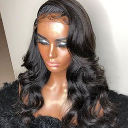 $enCountryForm.capitalKeyWord Australia - Fast Shipping Manufacturer Body Wave Lace Front Human Hair wig Brazilian Human Cuticle Aligned Baby Hair 360 Wig Lace Frontal Wig