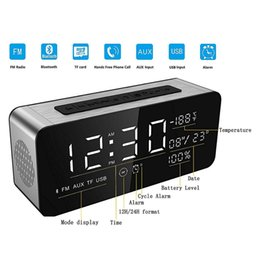 computer clock NZ - Alarm Clock Bluetooth Speaker Portable Wireless 3D Surround Stereo Speakers Support Handsfree TF FM AUX LED display 5000mAH