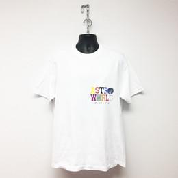 Travis Scott Astroworld Mens Summer Designer Tshirts Lettera Stampa Terra Logo Homme Abbigliamento girocollo manica corta Tees in Offerta