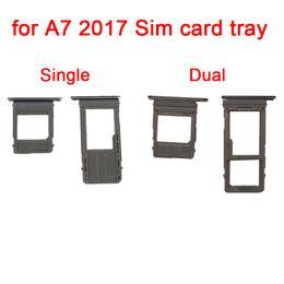 $enCountryForm.capitalKeyWord UK - 1Set lot Single   Dual Sim Card Tray Micro SD Card Slot Holder For Samsung Galaxy A5 A7 2017 A520 A720 Replacement