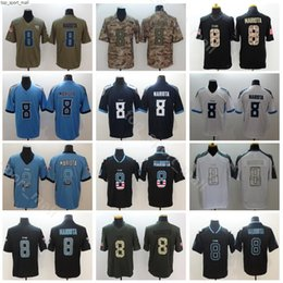 Usa flag jersey online shopping - Men Football Titans Marcus Mariota Jerseys Navy Blue White Vapor Untouchable Army Green Salute to Service Hyphenation Shadow USA Flag