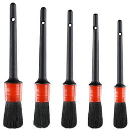 Detailing For Cars Australia - Detail Brush (Set of 5), Auto Detailing Brush Set Perfect for Car Motorcycle Automotive Cleaning Wheels, Dashboard, Interior,